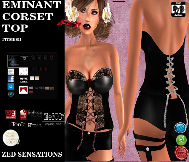 Eminant corset top and pants